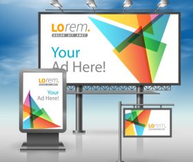 Corporate identity Geometric diamond cover billboard sign light bo vector