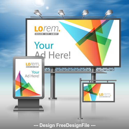 Corporate identity Geometric diamond cover billboard sign light bo vector