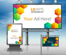 Corporate identity Geometric lattice cover billboard sign light bo vector