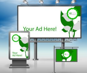 Corporate identity billboard sign light bo vector 02