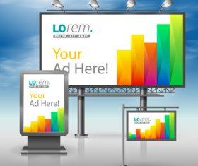 Corporate identity color strip billboard sign light bo vector
