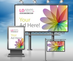 Corporate identity flower cover billboard sign light bo vector