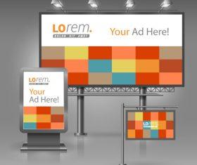 Corporate identity plaid cover billboard sign light bo vector