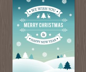 Cover christmas new year card vector
