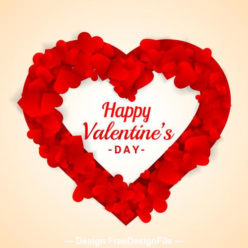 Creative valentine background vector