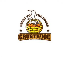 Crusty bread mascot esport logo vector