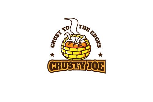 Crusty bread mascot esport logo vector