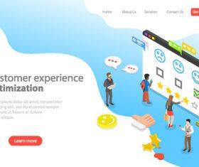 Customer experience concept illustration vector