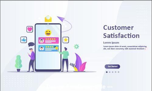 Customer satisfaction cartoon illustration vector