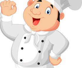 Cute fat chef vector