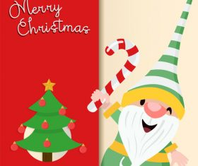 Cute santa claus cartoon vector