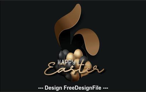 Dark background easter egg illustration vector