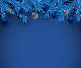 Dark blue christmas card vector