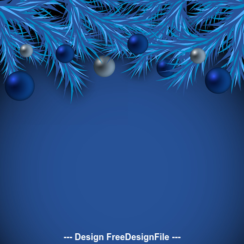 Dark blue christmas card vector free