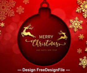 Decorative 2020 christmas card vector