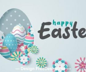 Decorative easter card illustration vector