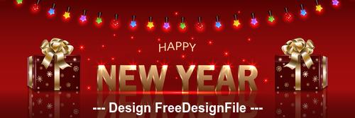 Decorative lantern 2020 new year background vector