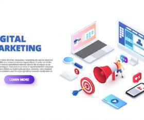 Design digital marketing vector