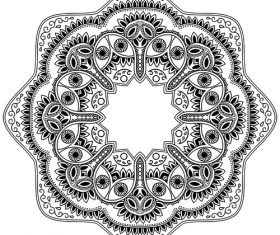 Different patterns mandala tattoo vector 01