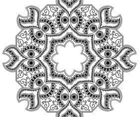 Different patterns mandala tattoo vector 02