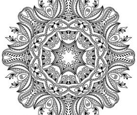 Different patterns mandala tattoo vector 03