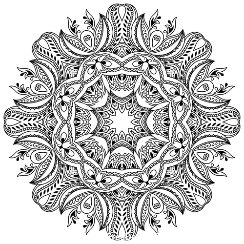 Different patterns mandala tattoo vector 03