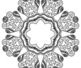 Different patterns mandala tattoo vector 05