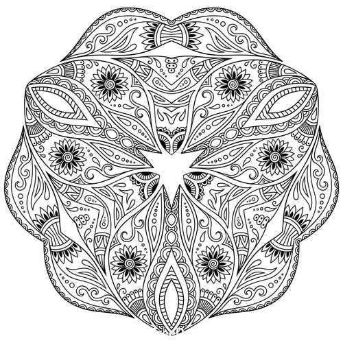 Different patterns mandala tattoo vector 06