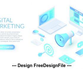 Digital marketing concept illustration vector