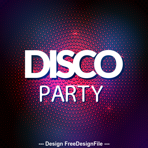 Disco party font vector