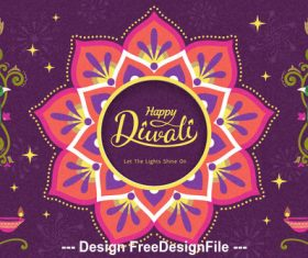 Diwali decoration vector