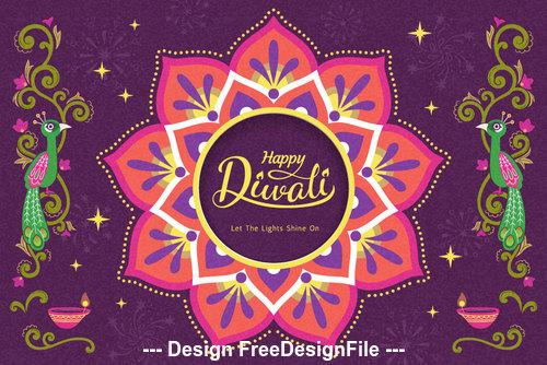 Diwali decoration vector