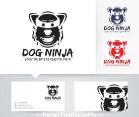 Dog ninja logo vector