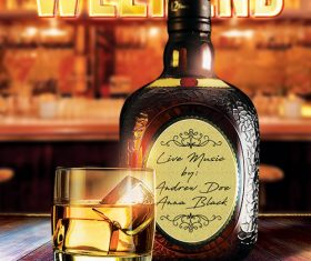 Drinks Weekend Poster PSD Template