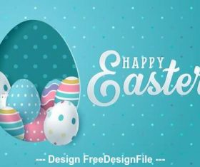 Easter card illustration vector
