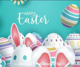 Easter egg card illustration vector
