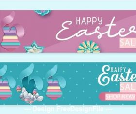 Easter sale banner vector