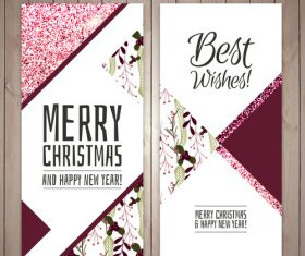 Elegant christma card vector