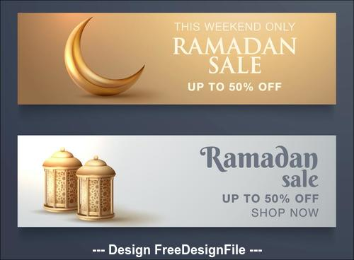 Elegant ramadan big sale banner vector