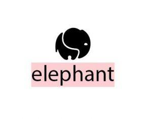 Elephant logo template vector