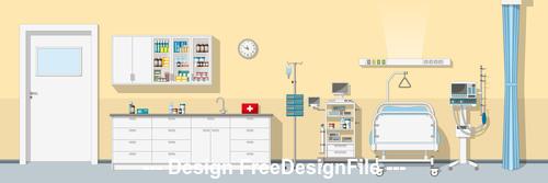 Emergency ward illustration vector