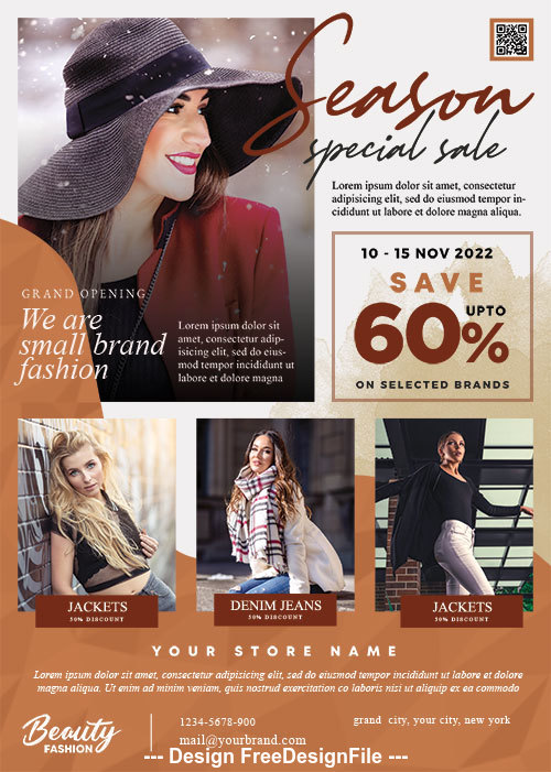 Fashion Sale PSD Poster and Flyer Template