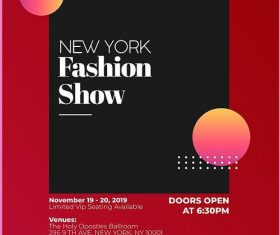 Fashion Show PSD Poster and Flyer Template