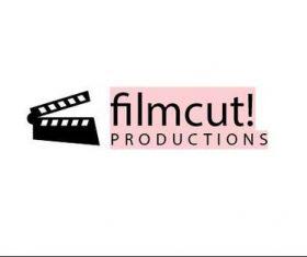Film cut logo template vector