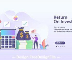 Financial investment cartoon illustration vector