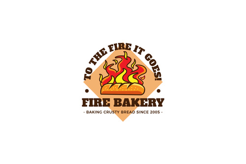 Fire bakery mascot esport logo vector