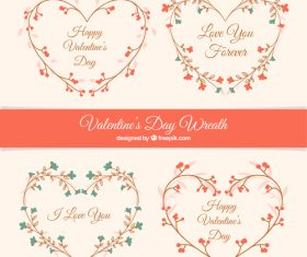Flower heart valentines day decoration vector