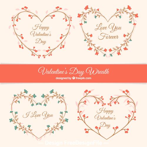 Flower heart valentines day decoration vector