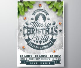 Flyer christmas live music vector