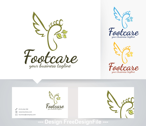 Foot care logo vector